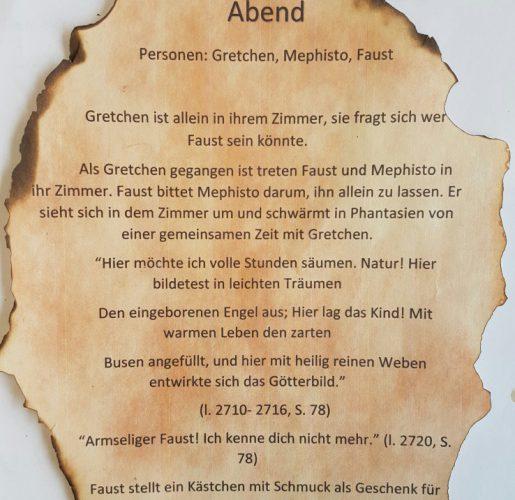 Schülerprojekt 10d – Faust I